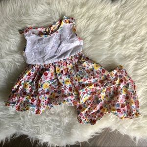 Vintage baby dress and diaper cover